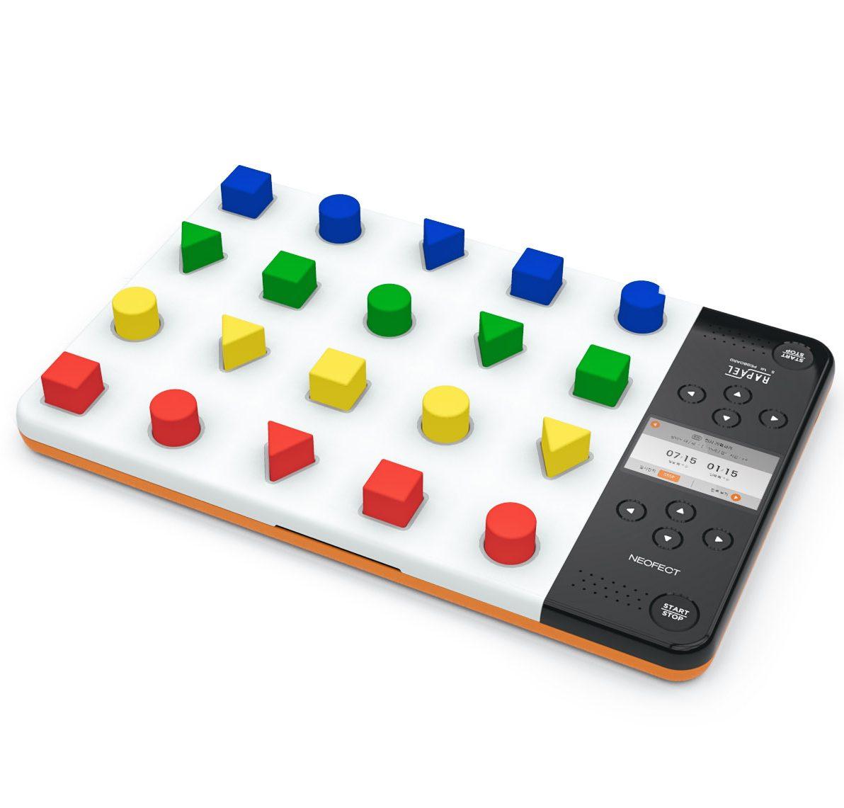 Neofect Smart Pegboard mit verschiedenen Formen